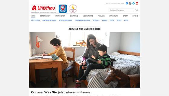 Screenshot von apotheken-umschau.de